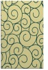 rug #428693 |  yellow circles rug