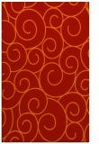 rug #428733 |  orange circles rug