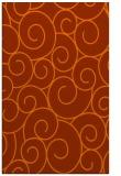 rug #428745 |  red-orange circles rug