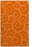 rug #428749 |  red-orange circles rug
