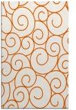 rug #428757 |  red-orange circles rug