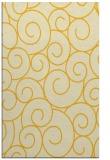 rug #428777    yellow circles rug