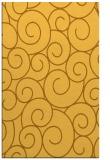 rug #428793 |  yellow circles rug