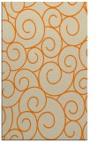 rug #428805 |  orange circles rug