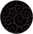 rug #428857 | round brown rug