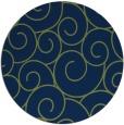 rug #428877 | round green circles rug