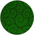 rug #428909 | round green circles rug