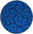 rug #429009 | round blue circles rug