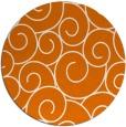 rug #429033 | round orange circles rug