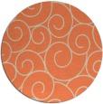 rug #429037 | round beige circles rug
