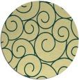 rug #429045 | round yellow circles rug
