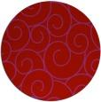 rug #429093   round red circles rug