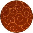 rug #429097 | round red-orange circles rug