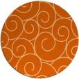 rug #429101   round red-orange circles rug