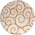 rug #429109 | round red-orange circles rug
