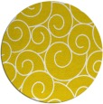 rug #429141 | round yellow circles rug