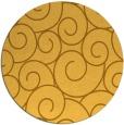 rug #429145 | round light-orange circles rug