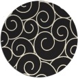 rug #429149   round black circles rug