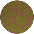rug #429169 | round light-green circles rug