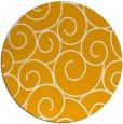 rug #429177   round light-orange circles rug