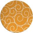 rug #429189 | round light-orange circles rug
