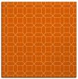 rug #429805 | square red-orange geometry rug