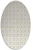 rug #429921 | oval white rug