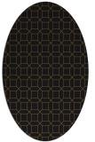 rug #430013   oval mid-brown popular rug