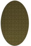 rug #430017   oval mid-brown popular rug