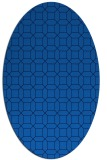 rug #430065 | oval blue rug