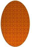 rug #430085 | oval red-orange rug