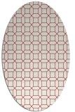 rug #430092 | oval geometry rug