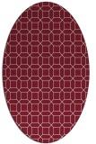 rug #430109 | oval pink rug