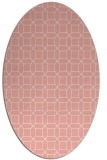 rug #430117 | oval white geometry rug