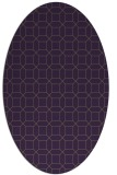 rug #430129 | oval purple geometry rug