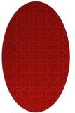 rug #430149 | oval red geometry rug