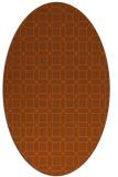 rug #430161 | oval red-orange rug