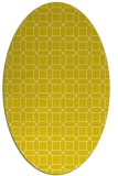 rug #430197 | oval white geometry rug