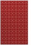 rug #430497 |  red geometry rug