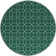 rug #430733 | round blue-green geometry rug