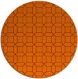 rug #430789 | round red-orange popular rug
