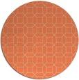 rug #430797   round orange popular rug