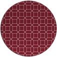 rug #430813 | round pink rug