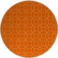 rug #430861   round red-orange geometry rug