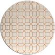 rug #430869 | round red-orange rug