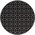 rug #430909 | round black geometry rug
