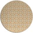 rug #430917 | round beige geometry rug