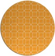 rug #430949 | round light-orange geometry rug