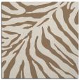 rug #433217 | square mid-brown animal rug