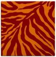 rug #433253 | square orange animal rug